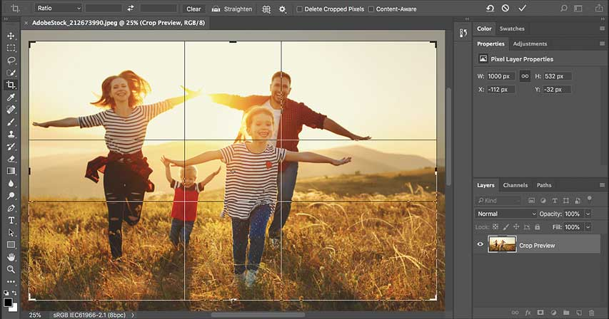 How to crop photos in Photoshop CC - Complete Guide