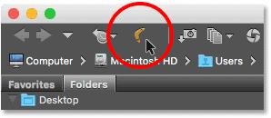 The boomerang icon in Adobe Bridge. Image © 2016 Steve Patterson, Photoshop Essentials.com