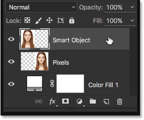 Making sure the correct layer is selected in the Layers panel. Image © 2016 Steve Patterson, Photoshop Essentials.com