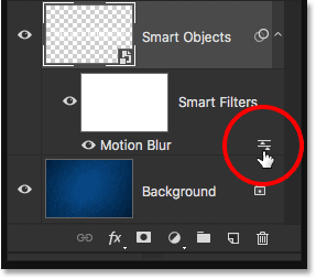 The Smart Filter Blending Options icon.