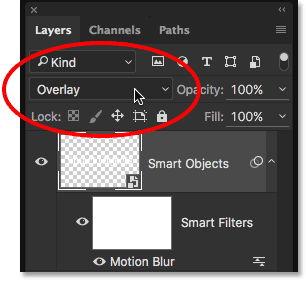 Changing the Smart Object's blend mode back to Overlay.