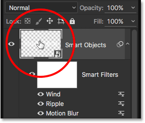 Double-clicking on the Smart Object's thumbnail in the Layers panel.