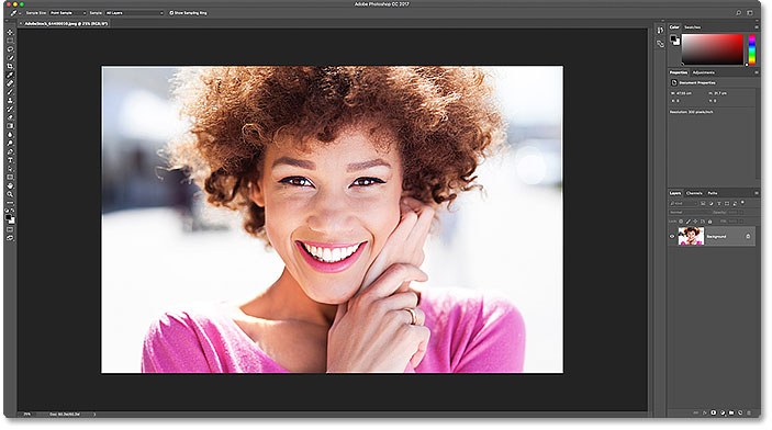 The default color theme in Photoshop CC. Image 64400010 licensed from Adobe Stock.