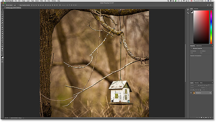 The JPEG file opens in Photoshop. Image copyright 2017 Steve Patterson.