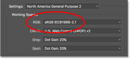 The default sRGB working space.
