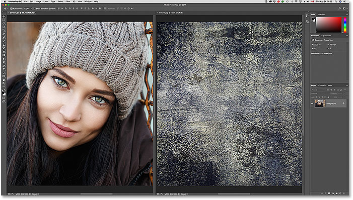The 2-up Vertical document layout in Photoshop.