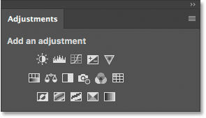 Closing a single panel in a group in Photoshop.