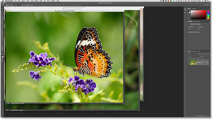 Images displayed as floating document windows in Photoshop CS6. Image © 2013 Photoshop Essentials.com
