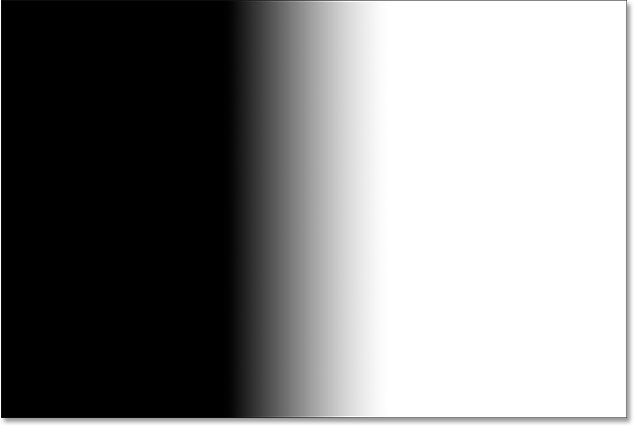The layer mask showing the black to white gradient. Image © 2015 Steve Patterson, Photoshop Essentials.com