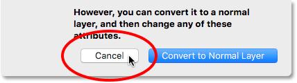Clicking the Cancel button. Image © 2016 Photoshop Essentials.com