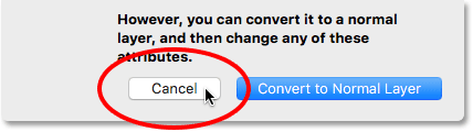 Clicking the Cancel button.