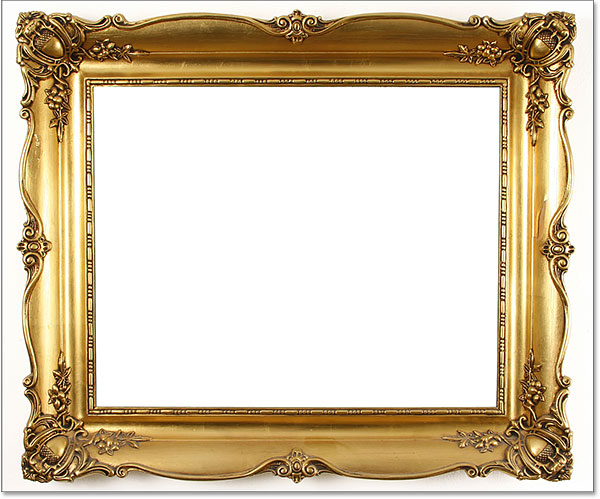 The area inside the photo frame has been filled with more white. Image © 2016 Photoshop Essentials.com