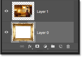 The Background layer has been renamed Layer 0. Image © 2016 Photoshop Essentials.com
