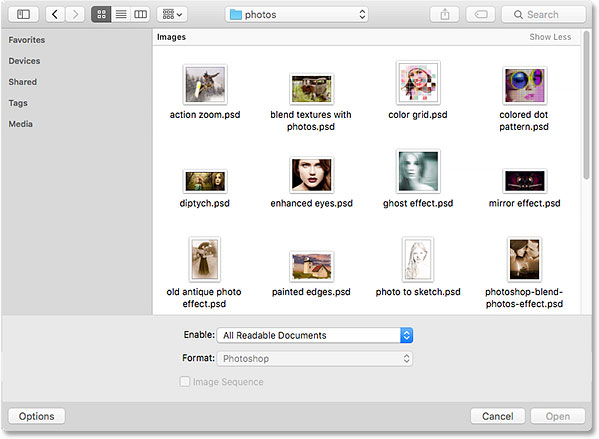 A Finder window open in Mac OSX. Image © 2015 Steve Patterson, Photoshop Essentials.com