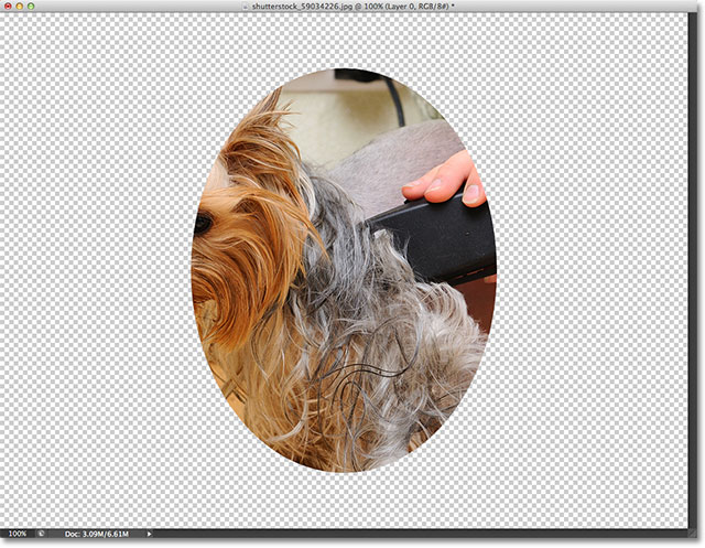 The image after adding the clipping mask. Image © 2012 Photoshop Essentials.com