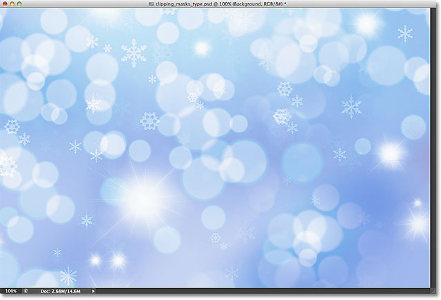 An abstract winter background. Image licensed from Shutterstock by Photoshop Essentials.com