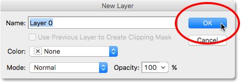 The New Layer dialog box. Image © 2016 Photoshop Essentials.com