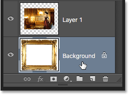 Holding Alt (Win) / Option (Mac) and double-clicking on the Background layer.