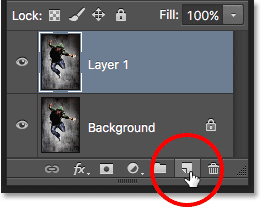 Pressing and holding Ctrl (Win) / Command (Mac) while clicking the New Layer icon.