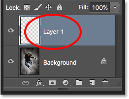 Photoshop automatically gives new layers generic names. Image © 2016 Photoshop Essentials.com.