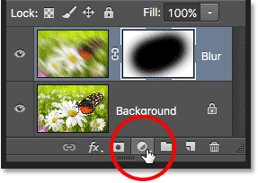 The New Fill or Adjustment Layer icon. Image © 2016 Photoshop Essentials.com