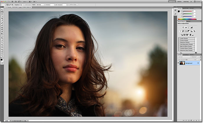 The lighter interface in Photoshop CS5. Image © 2012 Photoshop Essentials.com