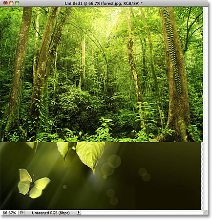All of the images have opened inside a single Photoshop document. Image © 2011 Photoshop Essentials.com