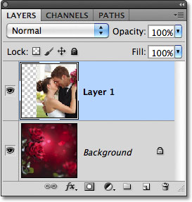 Photoshop CS5 Layers panel. Image © 2011 Photoshop Essentials.com
