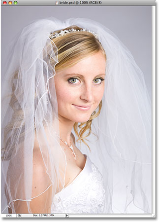 A photo of a bride. Image copyright © 2008 Photoshop Essentials.com