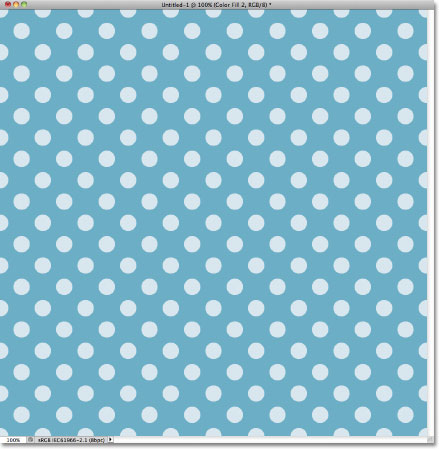 A light blue dots repeating pattern in Photoshop. Image © 2011 Photoshop Essentials.com