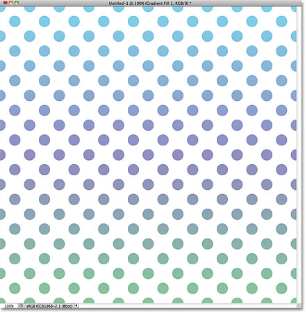Green, purple and blue circles repeating pattern. Image © 2011 Photoshop Essentials.com