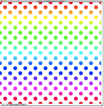 Circles pattern colorized with a Spectrum gradient. Image © 2011 Photoshop Essentials.com