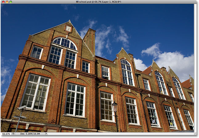A photo of an old private school. Image licensed from iStockphoto by Photoshop Essentials.com