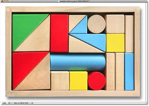 A photo of wooden blocks. Image licensed from iStockphoto by Photoshop Essentials.com