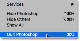 Quitting Photoshop. Image © 2016 Photoshop Essentials.com