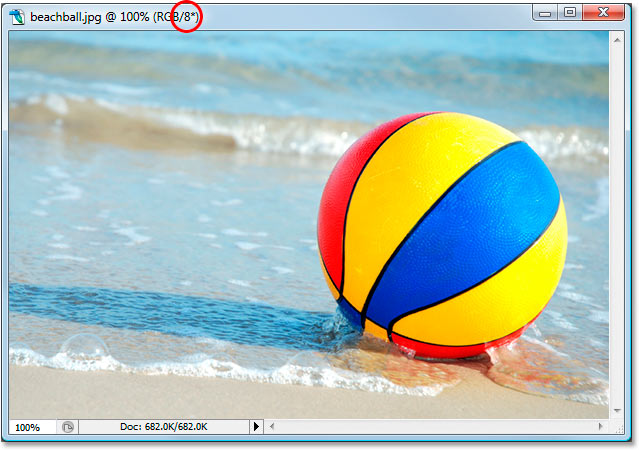 The 8-bit version of the beachball photo