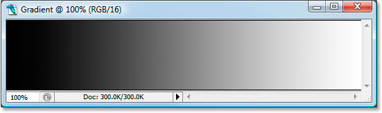The 16-bit gradient after adjusting it again with Levels