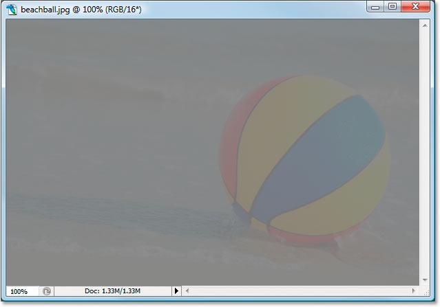 The 8-bit version of the image after adjusting Levels.