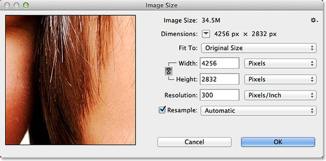 The Image Size dialog box in Photoshop CC. Image © 2013 Photoshop Essentials.com