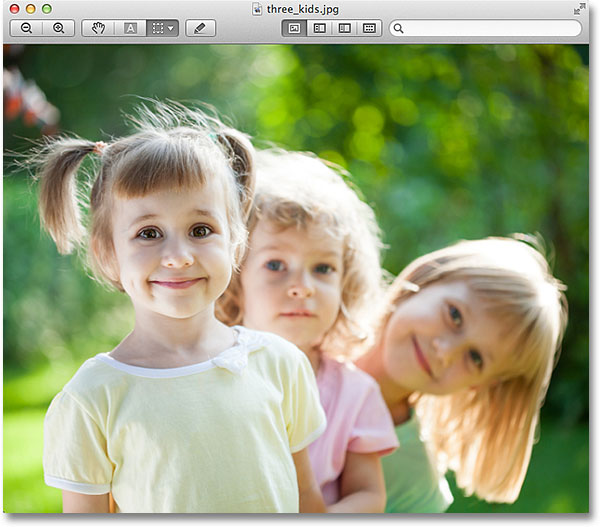 The photo has been opened in Apple's Preview program. Image © 2013 Photoshop Essentials.com