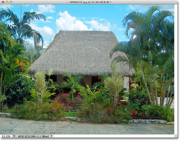 A small hut in Mexico. Image &copy; 2012 Photoshop Essentials.com