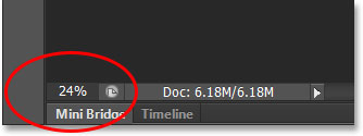 The current zoom level of the document is 24%. Image © 2013 Photoshop Essentials.com