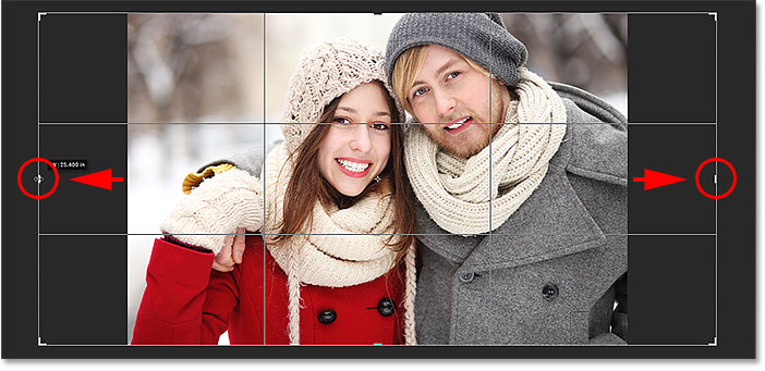 Adding extra space to the let and right sides of the image. Image © 2016 Photoshop Essentials.com