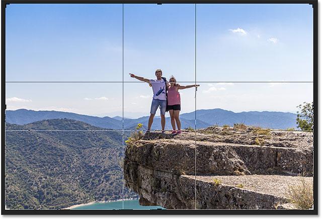The Golden Ratio overlay. Image © 2016 Photoshop Essentials.com