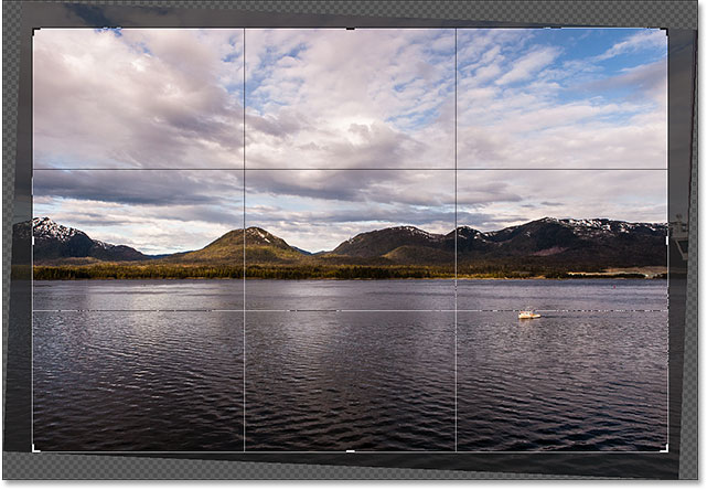 Photoshop straightens the image when you release your mouse button. Image © 2016 Photoshop Essentials.com
