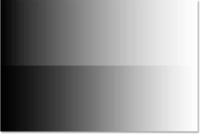 A before and after comparison of the midtones after dragging the slider towards the left. Image © 2015 Steve Patterson, Photoshop Essentials.com