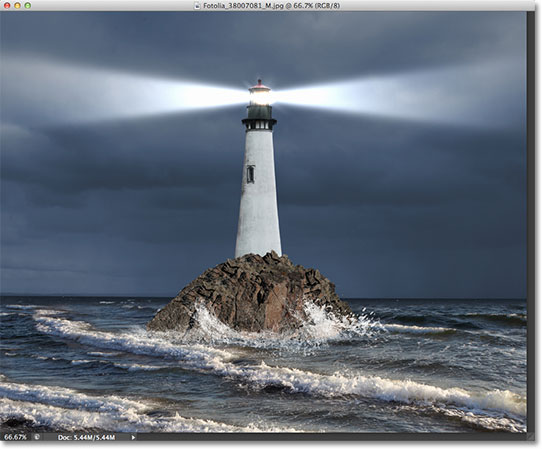 A photo of a lighthouse. Image licensed from Fotolia by Photoshop Essentials.com