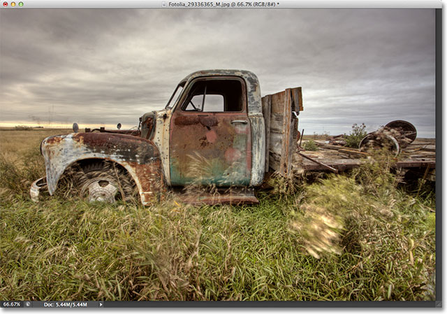 A photo of an old truck. Image licensed from Fotolia by Photoshop Essentials.com