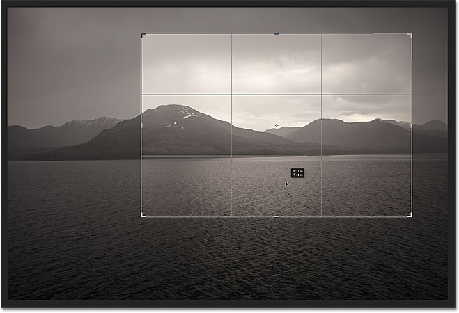 Click and drag the photo around inside the crop box to reposition it. Image &copy; 2012 Photoshop Essentials.com
