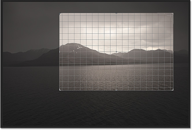 Photoshop CS6 gives us several overlays to help with cropping and positioning the image. Image &copy; 2012 Photoshop Essentials.com